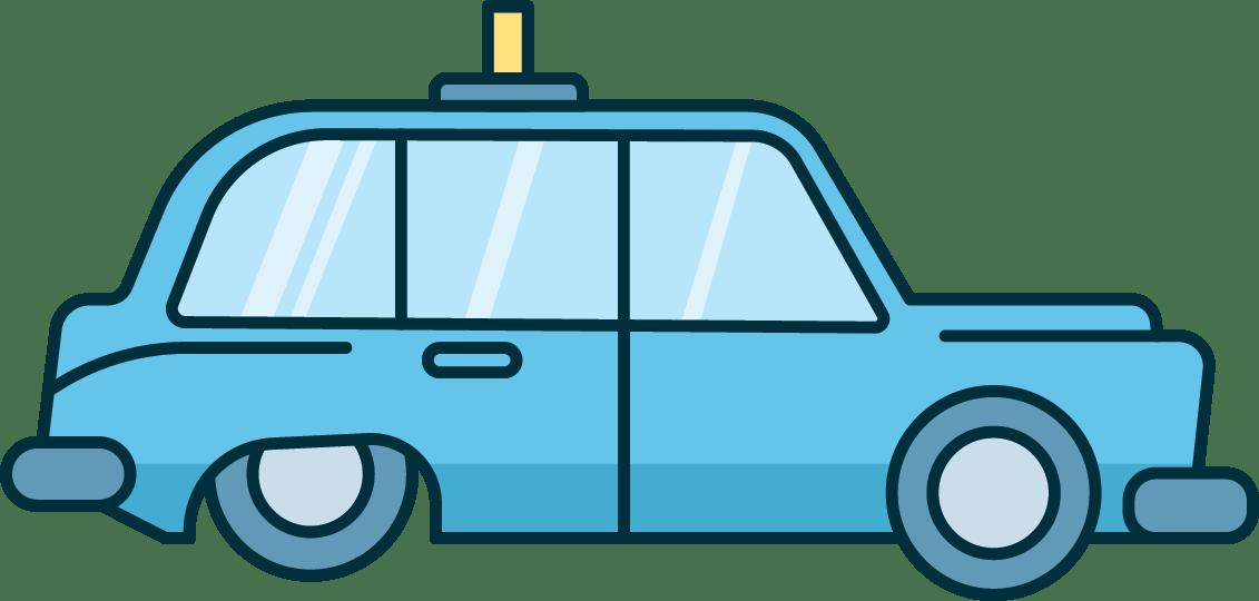 Illustration taxi